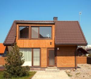 Стеклянный домик - двухэтажный домик с террасой
