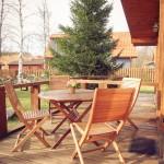 Дуплек деревянный домик - Береза, Ель  (2xЧетырёхместный)