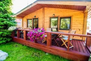 Double-sided wooden hut – Birch, Fir (2 x quadruple)